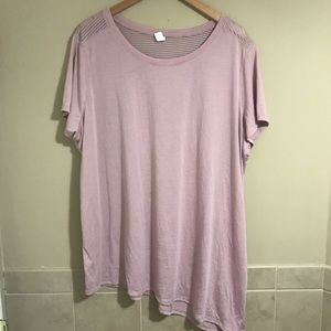 Old Navy Active Pink Shirt Tie Side Plus Size 3X